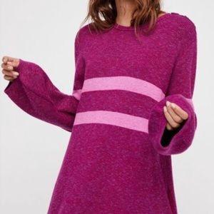 Free People Sz XS On Your Team Sweater Mini Dress